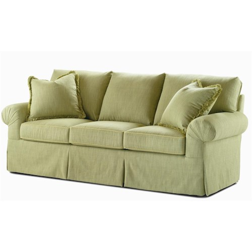 Century Elegance  Upholstered Sofa with Pleated Rolled Arms