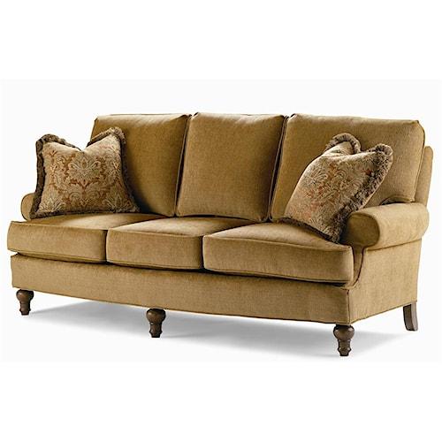 Century Elegance  Upholstered Sofa with Turned Feet