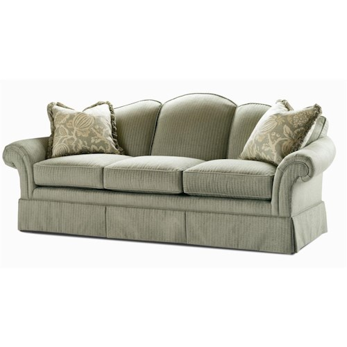 Century Elegance  Stationary Sofa with Flared Arms