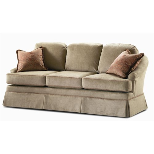 Century Elegance  Stationary Sofa with Skirted Base