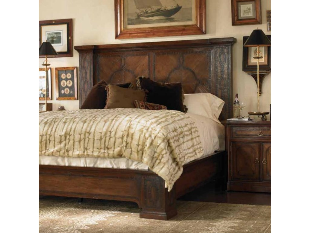Shown with Mahogany and Walnut Araceli Nightstand. Bed Shown May Not Represent Size Indicated.