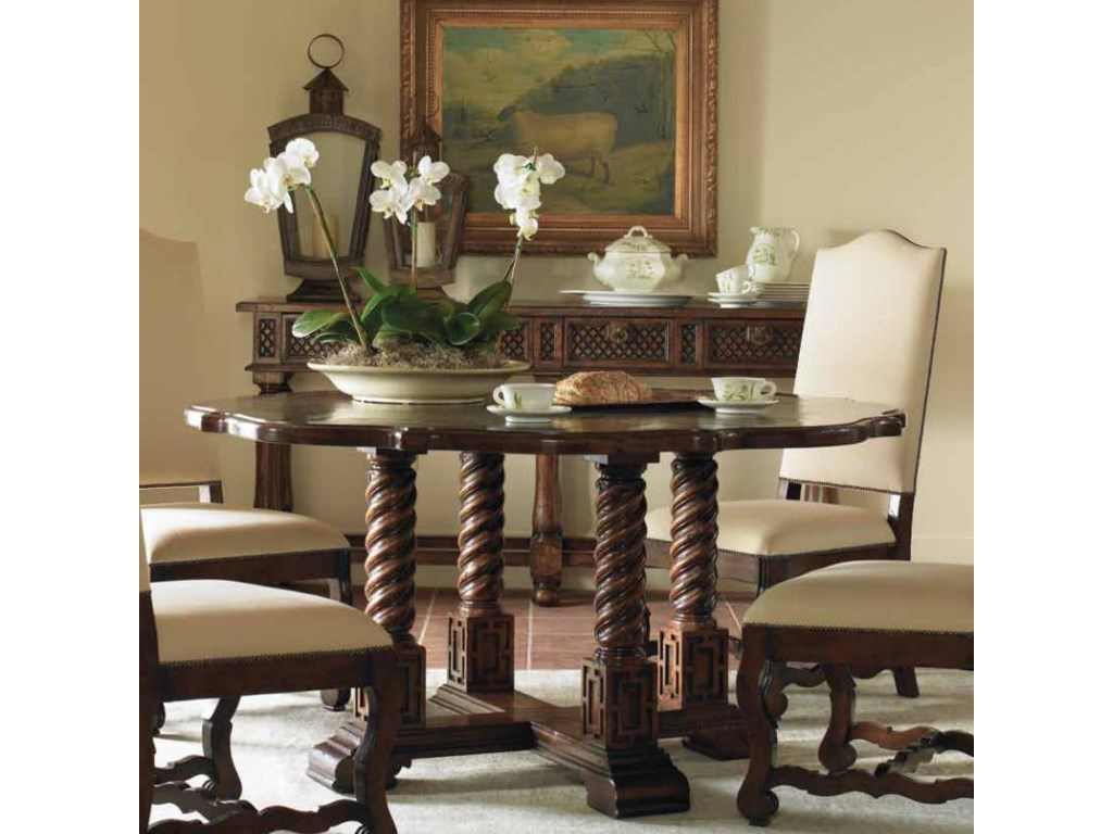 Shown with Nevara Side Chairs and Four Drawer Gema Console Table
