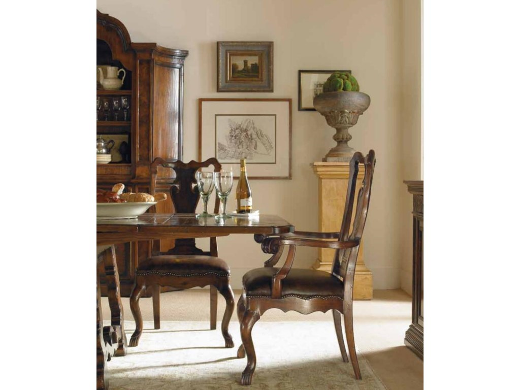 Shown with Formal Refectory Dining Table, Calderon Arm Chair and Cielo Credenza China Cabinet