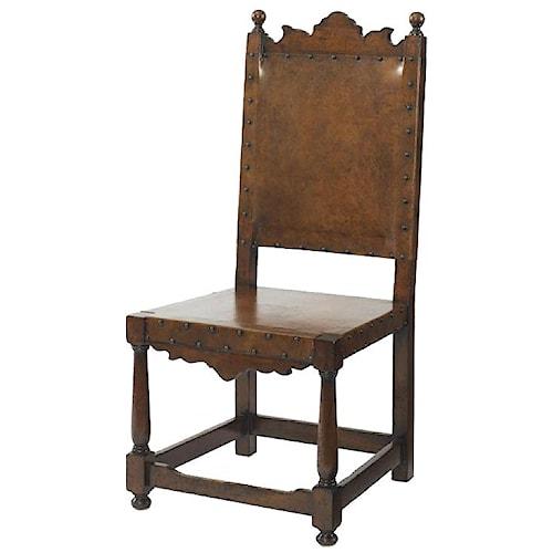 Century Marbella 661 Basilo Antique Mid-Evil Style Side Chair