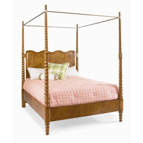 Century Metro Lux Poster Bed with Metal Canopy