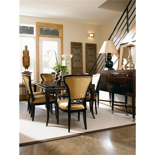 Century Metro Lux The Leg Table and SIde and Arm Chair Combo