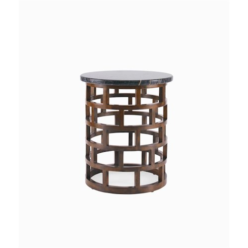 Century Metro Lux Chairside Table with Marble Top