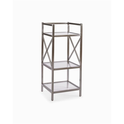Century Metro Lux Metal Bedside Stand