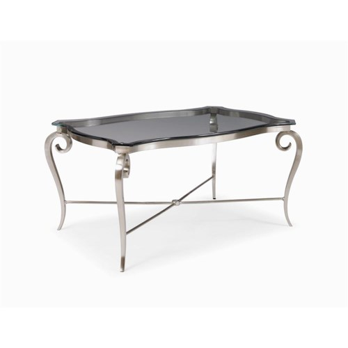 Century Metro Lux Metal and Glass Cocktail Table