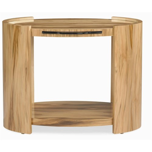 Century Milan Side Table with Pull Out Tray