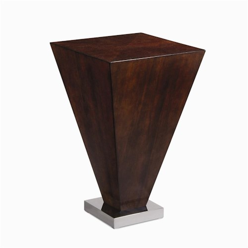 Century Milan Chairside Table with Metal Base