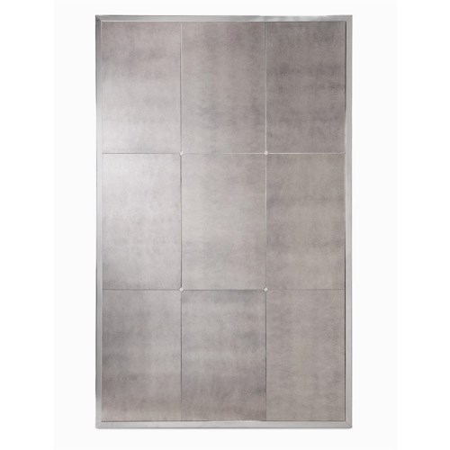 Century Milan Polished Stainless Steel Antiqued Mirror Glass