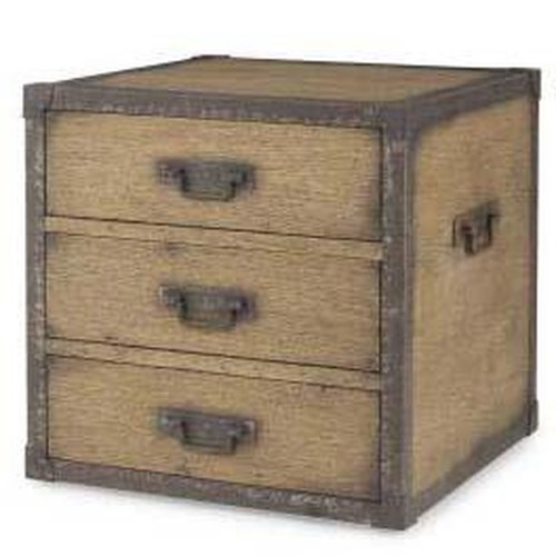 Century Monarch Fine Furniture 3 Drawer Aged Acacia and Oak Storage Chest