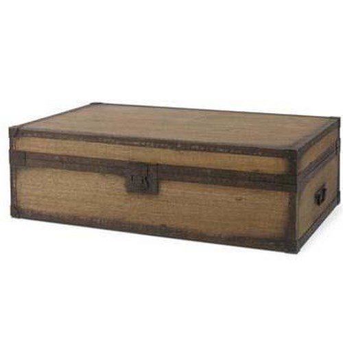 Century Monarch Fine Furniture Iron Latch and Handle Storage Trunk with Lift-Out Trays