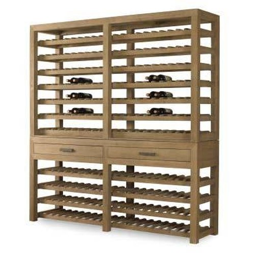 Century Monarch Fine Furniture Winemaker's 10 Shelf Wine Storage Console and Deck