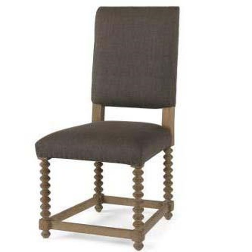 Century Monarch Fine Furniture Solid Acacia and Oak Dining Side Chair with Upholstered Seat and Back