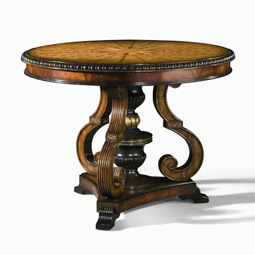 Century Monarch Fine Furniture Round Viceroy Center Table