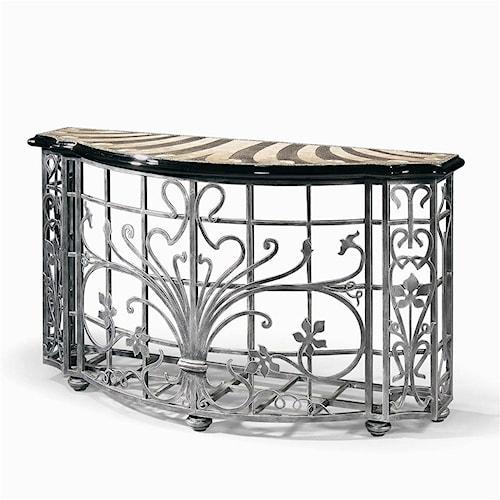 Century Monarch Fine Furniture Wrought Iron Virgile Console Table
