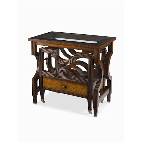 Century Monarch Fine Furniture 2 Traditional Nesting Bookrack Canterbury End Table