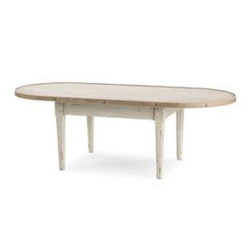 Century Monarch Fine Furniture Hannah Oval Cocktail Table with Antique Honey Finished Top and