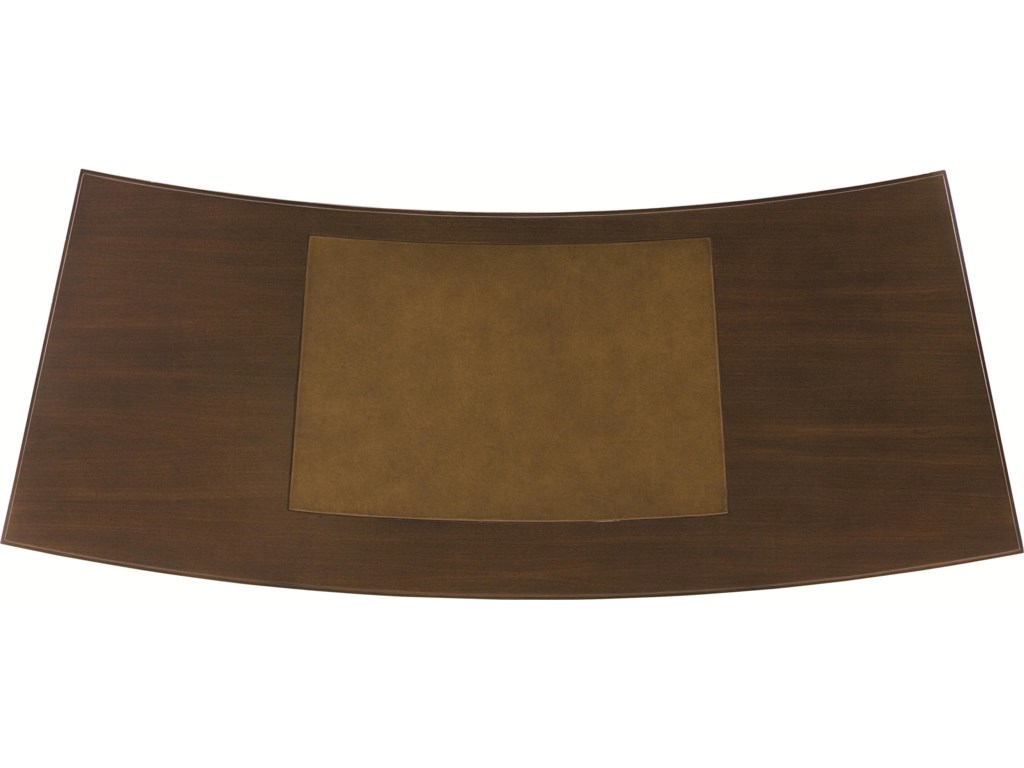 Table Top View with Taupe Leather Insert