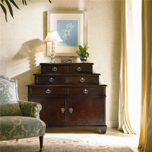 Century New Traditional Dressing Chest Stacked with Drawers