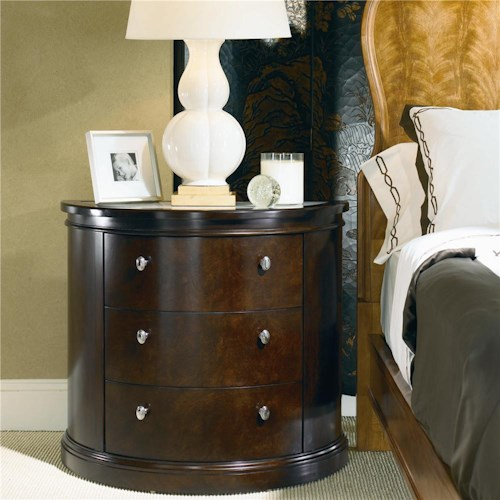 Century New Traditional Bedside Chest with Onyx Insert Top