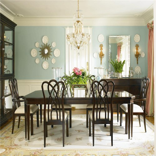Century New Traditional Eight-Legged Dining Table