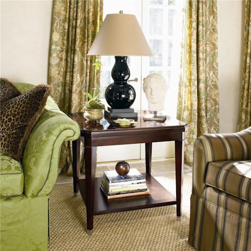 Century New Traditional Lamp Table with Display Shelf
