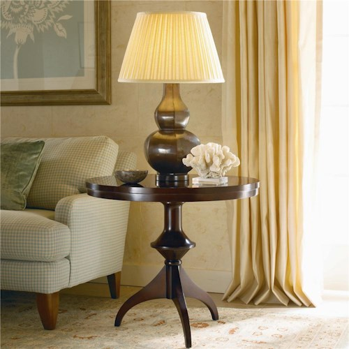 Century New Traditional Round Lamp Table