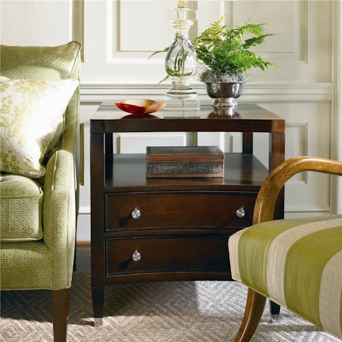 Century New Traditional Lamp Table with Two Drawers