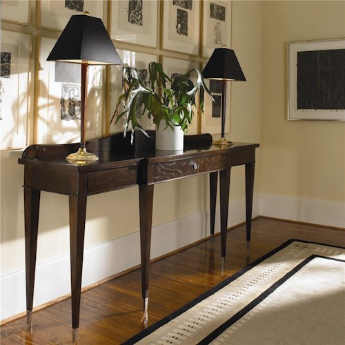 Century New Traditional Chestnut Console Table