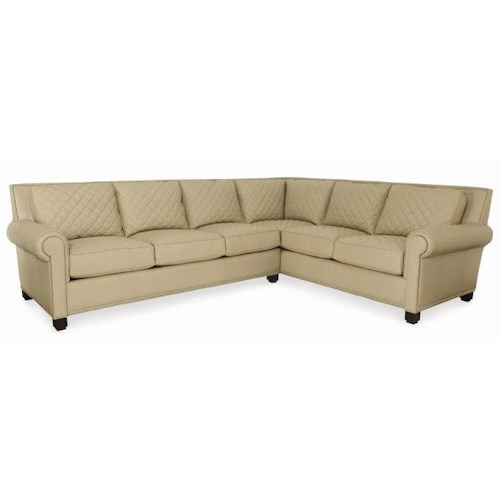 Century PLR-57  Two Piece Sectional Sofa with Quilted Detail