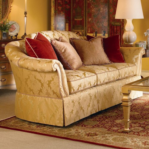 Century Signature Upholstered Accents Traditional Sofa with Skirted Base