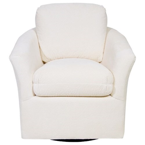 Century Studio Essentials Upholstery Mill Valley Swivel Chair with Flared Arms