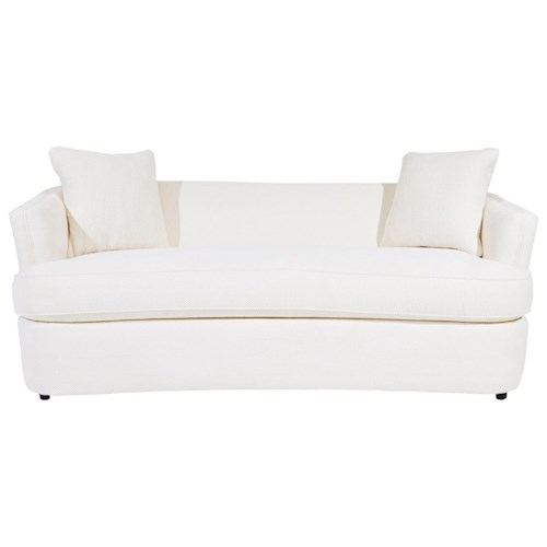 Century Studio Essentials Upholstery Georgia Sofa with Curved Bench Seat