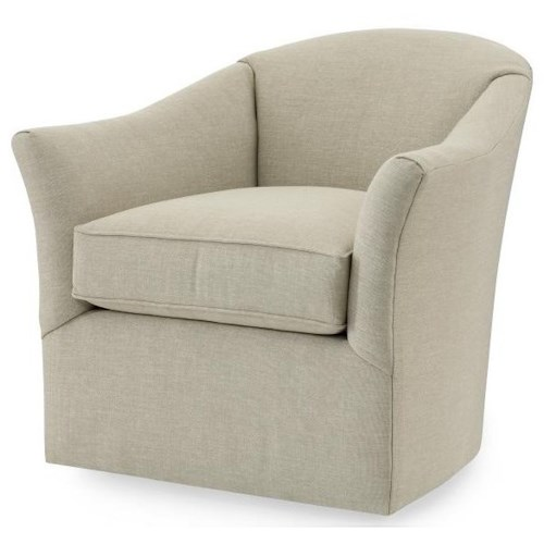 Century Studio Essentials Upholstery Altos Swivel Chair with Splayed Arms