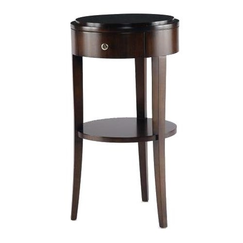 Century Tribeca  Chairside Table with Shelf
