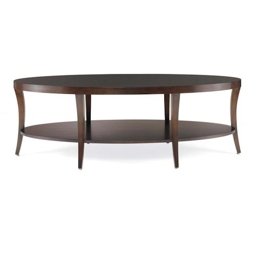 Century Tribeca  Cocktail Table with Bottom Shelf