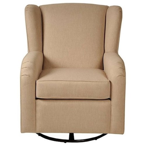 CH Living for Stone & Leigh Monroe Upholstered Wing Back Glider