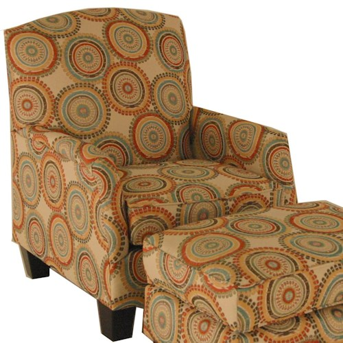 Chairs America Accent Chairs and Ottomans Transitional Chair with Block Feet