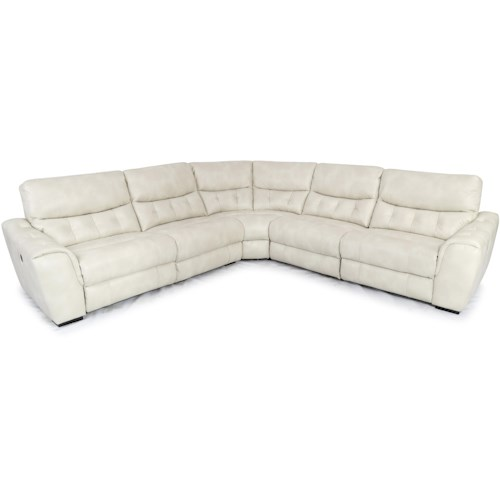Cheers Sofa 1005 Contemporary Sectional with Tufting