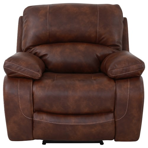 Warehouse M 1010 Casual Power Recliner with Pillow Arms