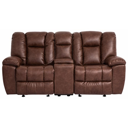 Cheers Sofa 1017M Reclining Loveseat with Console