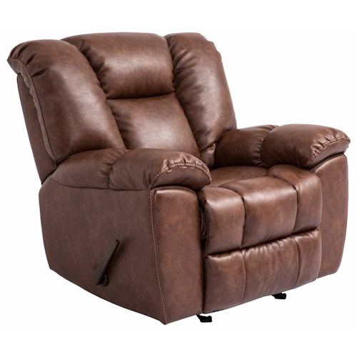 Cheers Sofa 1017M Glider Recliner with Pillow Arms