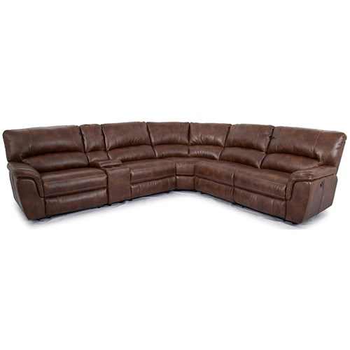 Cheers Sofa 1023 Power Reclining Sectional with Console