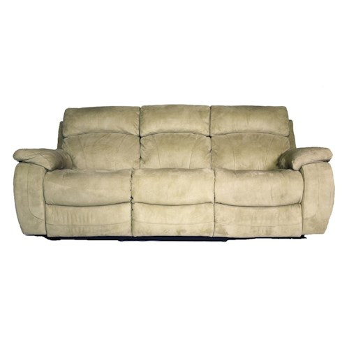 Cheers Sofa Cheers Reclining Sofas Neutral colored microfiber Reclining Sofa