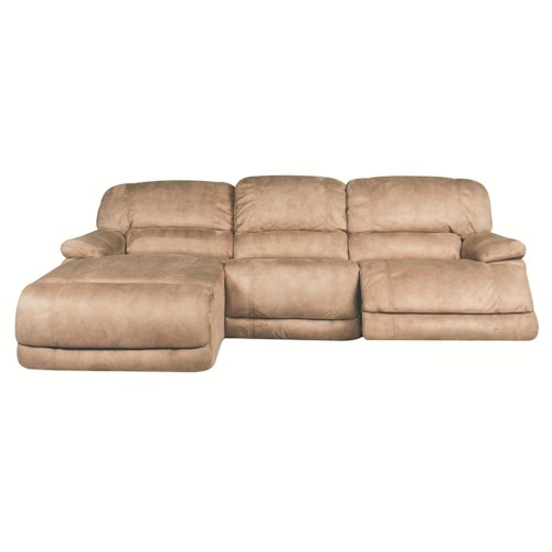 Morris Home Furnishings Sandra 3-Piece Power Reclining Sectional