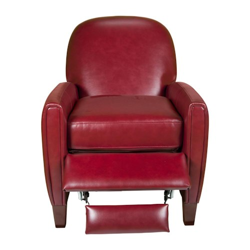 Morris Home Furnishings Uk636 Contemporary Leather Chair with Curved Back