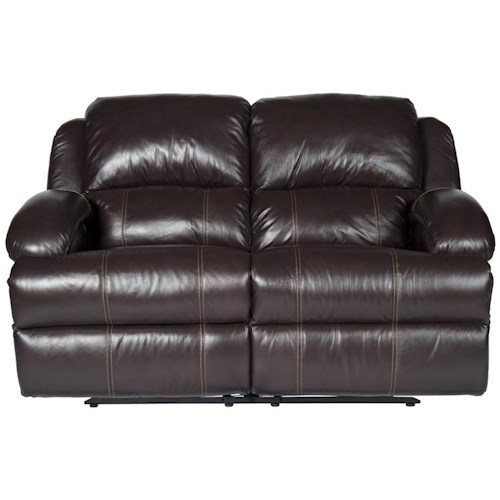Morris Home Furnishings Jamar Power Leather-Match* Reclining Loveseat